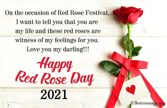 Red Rose Day Wishes Image, Rose Quotes