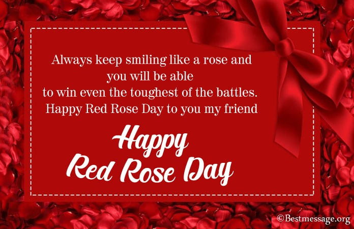 Happy Red Rose Day Wishes Messages 2021