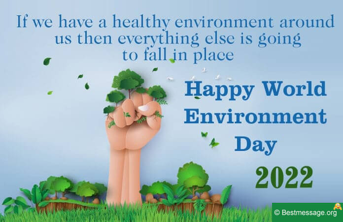 World Environment Day poster Messages 2021