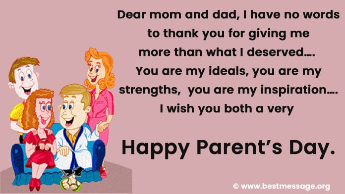 Happy Parents Day Image Messages
