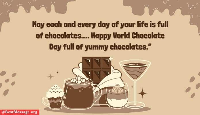 World Chocolate Day Whatsapp Status, Chocolate Whatsapp Message image