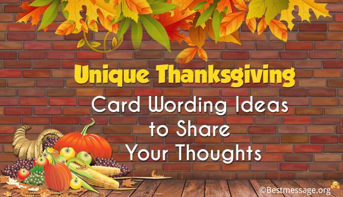 Unique Thanksgiving Card Wording Ideas, Messages