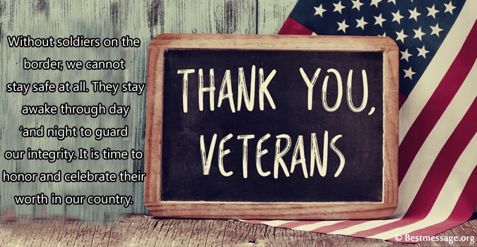 Veterans Day Thank You Messages, Thank You Words