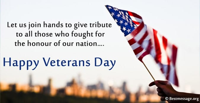 Veterans Day Greetings Message