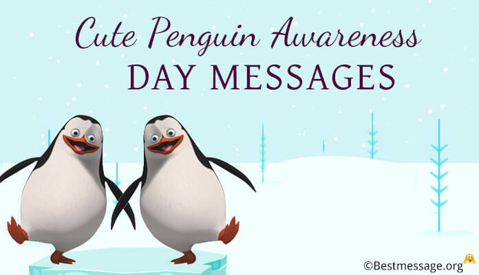 Cute Penguin Awareness Day Messages, Penguin Love Quotes, Captions