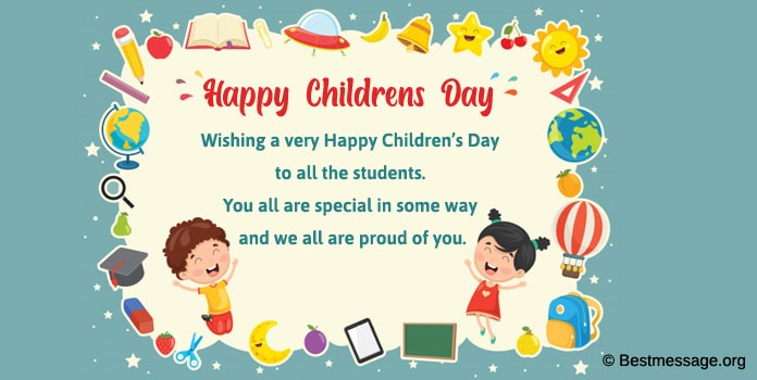 Children's Day Wishes Image, Children's Day Message from Principal