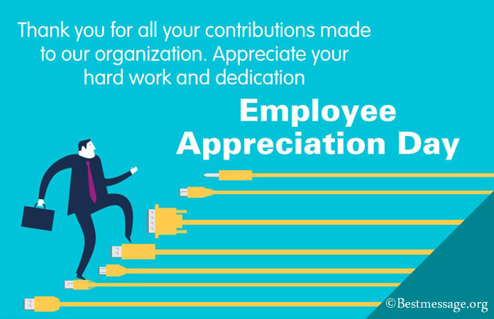 Employee Appreciation Thank You Messages, Notes, Words