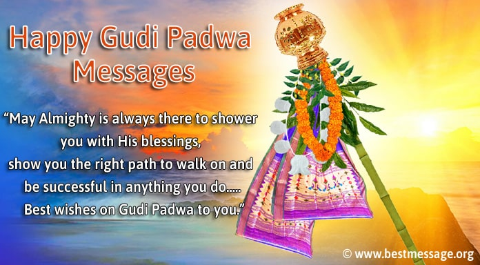 Happy Gudi Padwa Images with Messages - Gudi Padwa Wishes Photo