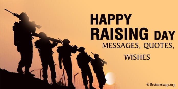 Happy Raising Day Wishes Quotes, Indian Army, crpf and bsf Raising Day Messages