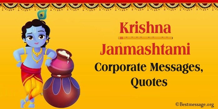 Krishna Janmashtami Corporate Messages, Business Quotes