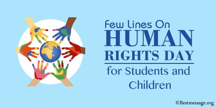 Lines On Human Rights Day for Students and Children