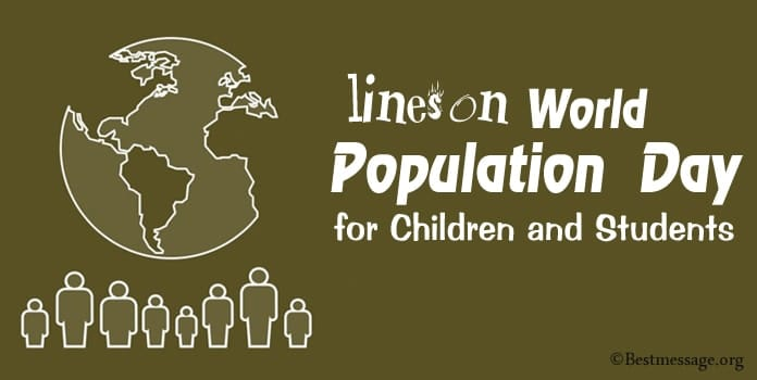 lines on World Population Day for Children and Students