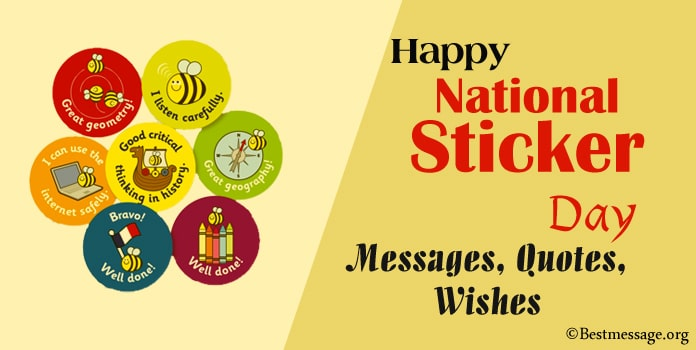 Happy National Sticker Day Messages, Quotes, Wishes Images