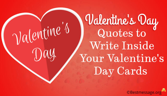 Valentines Day Quotes to Write a Inside Valentine's Day Cards Messages, wishes Greeting Image