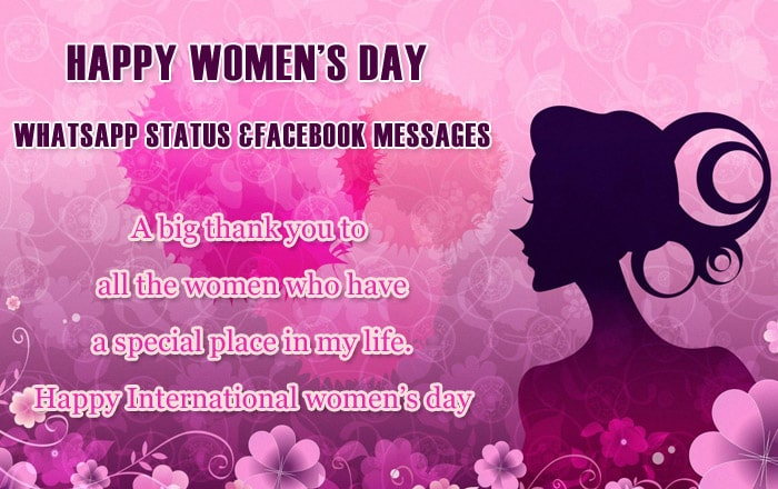 Women's Day Whatsapp Status Image, Facebook Messages photo