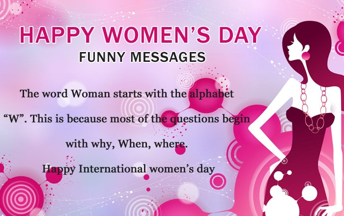 Women's Day Funny Messages Images, Photo Greetings