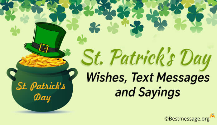 St. Patrick's Day Wishes, Text Messages and Greetings Blessings Image