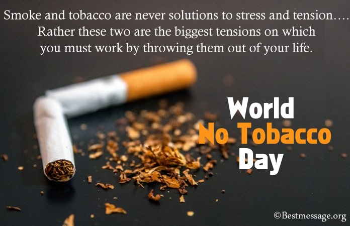 World No Tobacco Day Messages 2021, No Smoking Quotes