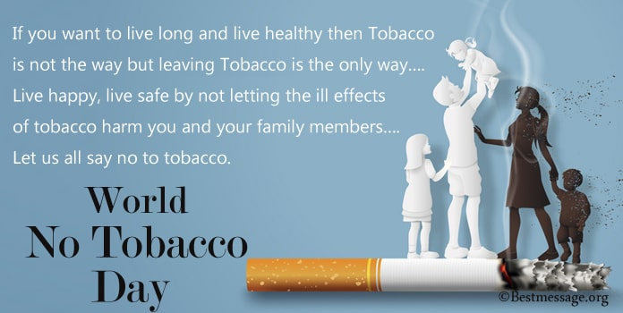 World No Tobacco Day Poster Messages, No Smoking Day Slogans