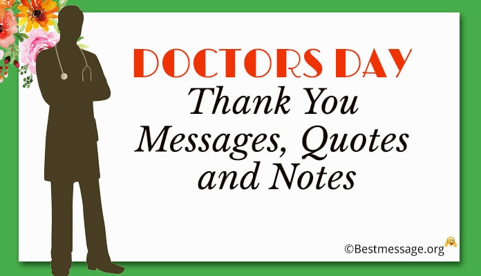 Doctors Day Thank You Messages 1st July Quotes and Notes