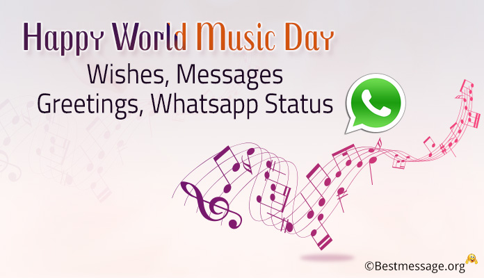 Happy World Music Day 2018 Wishes, Messages Greetings, Whatsapp Status