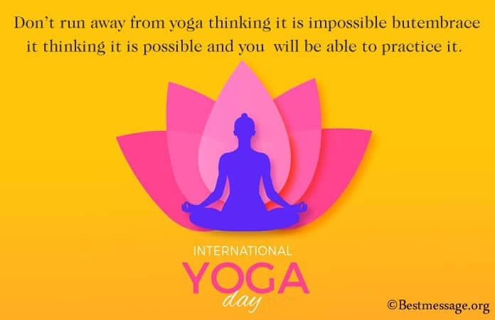 Yoga Day Funny Messages, Yoga Day Quotes Images