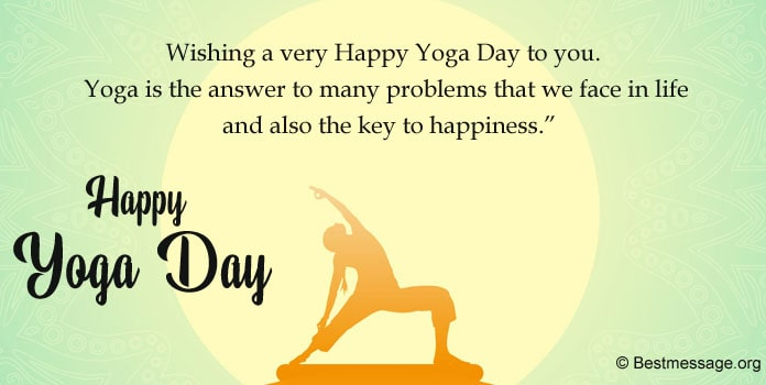 Best Yoga Day Wishes Messages, Massage for Yoga Day