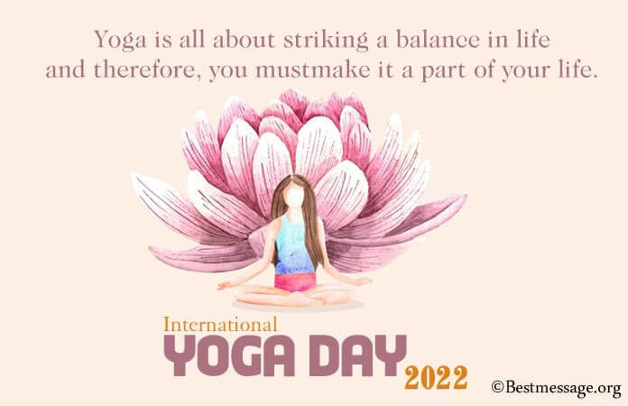 International Yoga Day 2021 Wishes, Yoga Day Messages Images