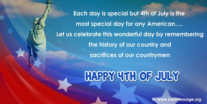 4th of July Greetings Messages, Fourth of July Messages Image