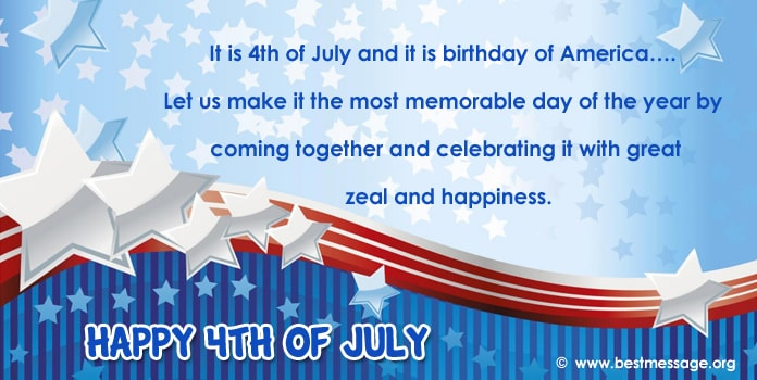 USA Independence Day Messages - 4th of July Wishes Image