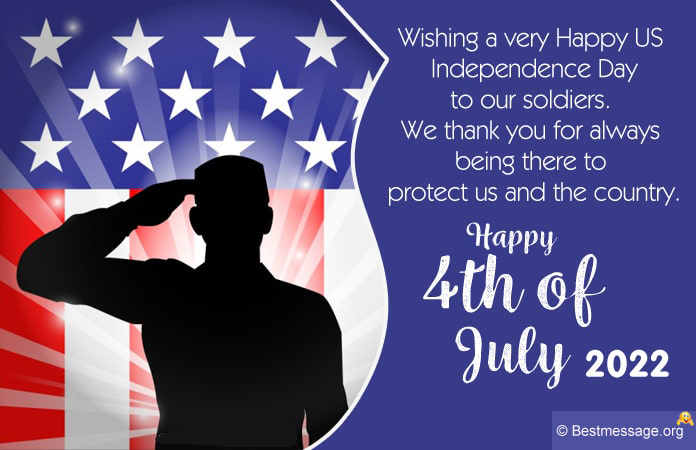 Fourth of July Card Messages, USA Soldiers 4th Of July Wishes Quotes