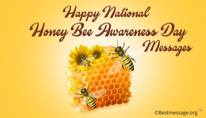 Happy National Honey Bee Awareness Day Messages - 18th August 2018