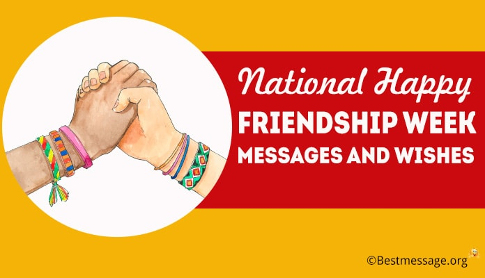 National Friendship Week 2018 Messages, Friendship Week Wishes and Greeting