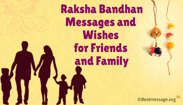 Raksha Bandhan Greeting Messages, Rakhi Wishes Friends and Family Image 2018