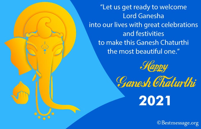 Happy Ganesh Chaturthi 2021 Wishes Messages