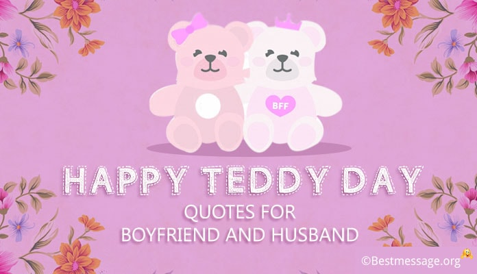 Happy Teddy Bear Day Messages for Boyfriend and Husband - Teddy Day september 9