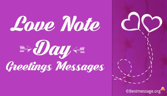Love Note Day 26 September , Love Greetings Messages