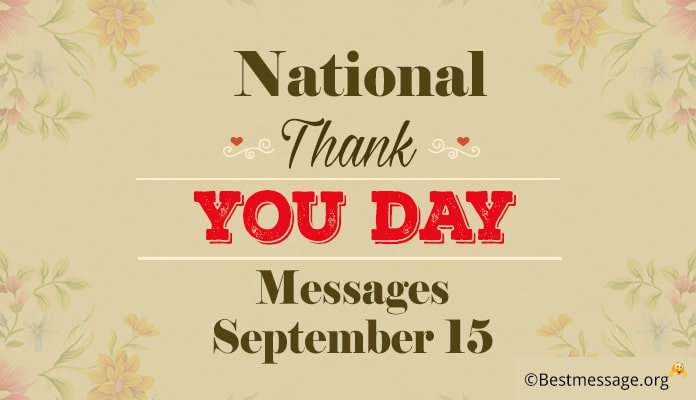 National Thank You Day Messages - Thank you Wishes Greetings Image