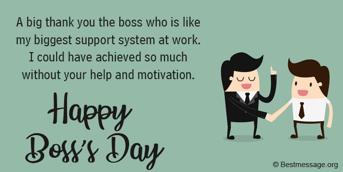 Boss Day Thank You Messages, Boss Thank You Quotes