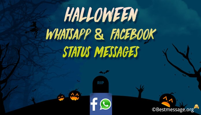 Best Halloween WhatsApp Status, Funny Halloween Facebook Messages