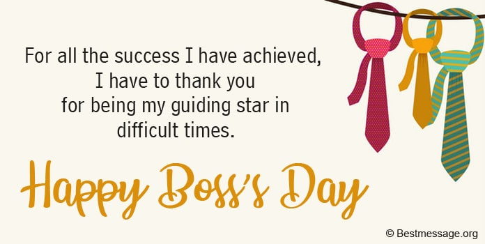 Happy Boss's Day Messages, Boss Day Wishes Messages Image