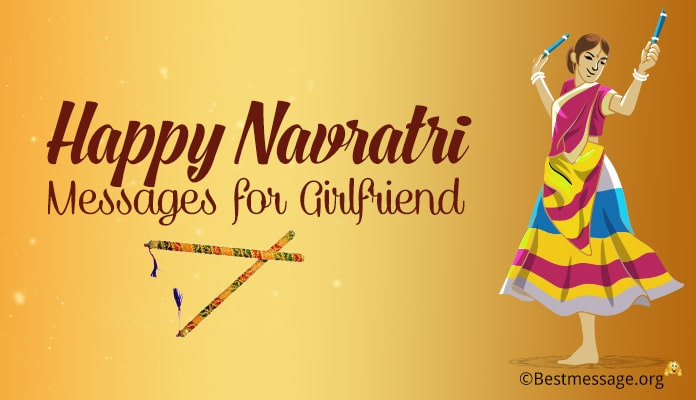 Happy Navratri Messages for Girlfriend - Navratri Wishes GF Images, Photo