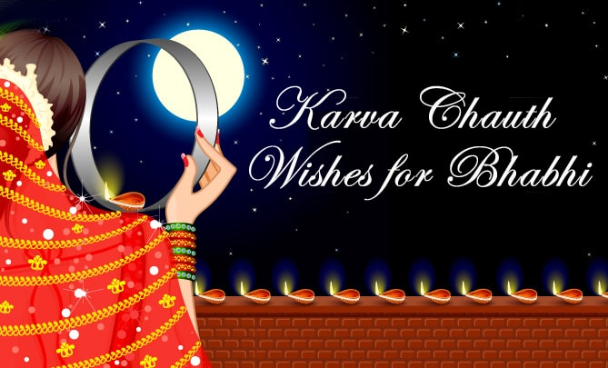 Karva Chauth Wishes for Bhabhi - Karwa Chauth Messages Status