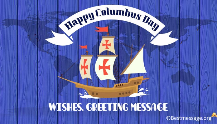 Happy Columbus Day Wishes (USA) Photo Greeting Message, Sayings, Slogans