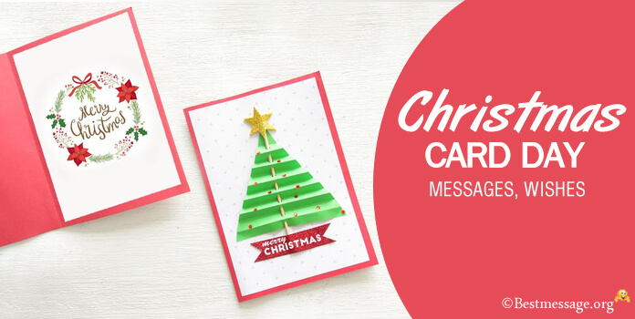 Christmas card day messages - christmas greetings card wishes images