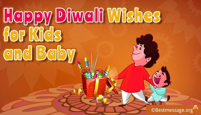 Baby Diwali Wishes Greeting Cards for Kids – Diwali Text Messages Child