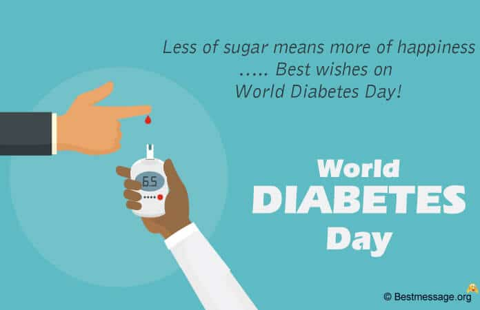 Diabetes Day Message, Slogans Poster Image
