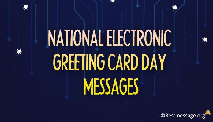 November 29 Electronic Greeting Card Day Wishes Messages Images
