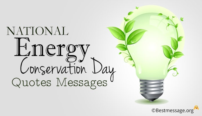 National Energy Conservation Day Quotes Messages - Energy Conservation posters Images