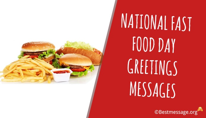 USA National Fast Food Day Greetings Messages - Food Slogans and Taglines